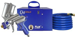 Fuji 2894-G-XPC Q4 GOLD HVLP Paint Spray System with Gravity Gun