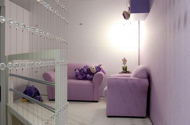 Dormitorio lila para ni a via for Dormitorio para 4 personas