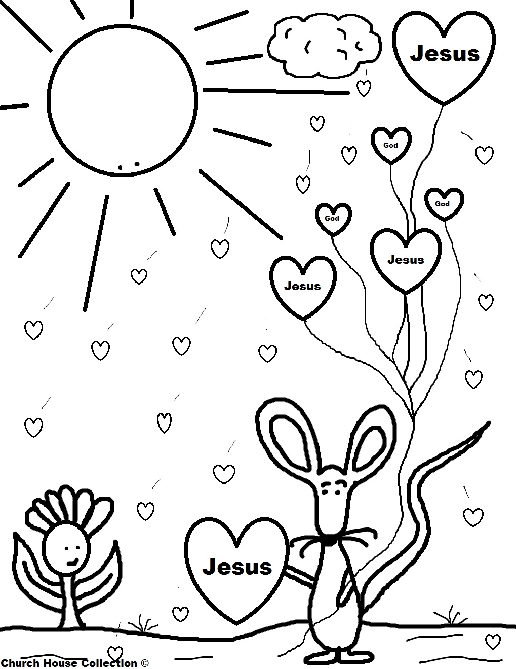 Jesus valentine coloring pages