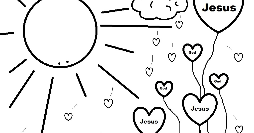 valentine coloring pages for kids jesus - photo #40
