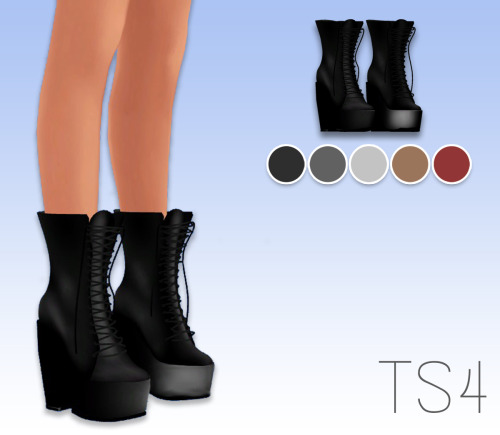 my sims 4 ts3 lace up boots conversion by