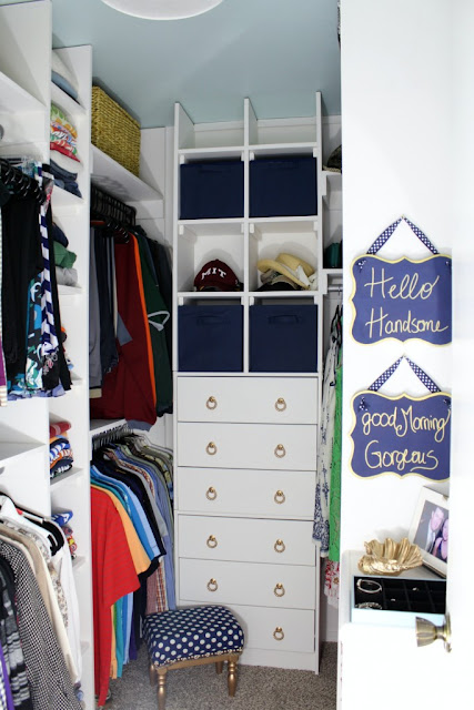 organization in master closet