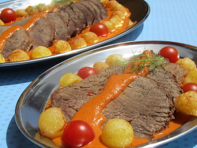 Roti (o redondo) de ternera en salsa Thermomix