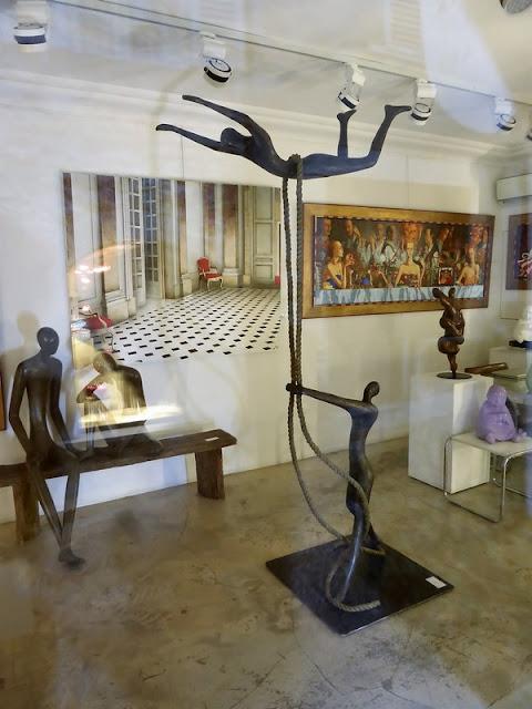 Esculturas en un galería de St Paul de Vence