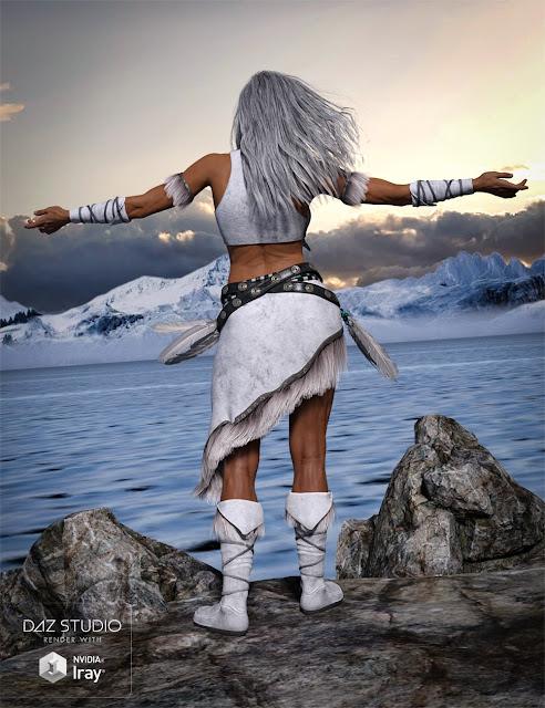 Ktarya Outfit for Genesis 3 Female and Genesis 8 Female