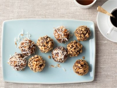 No Bake Chewy Truffle Cookies