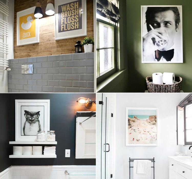 Appendi i quadri in bagno  Blog Arredamento - Interior Design