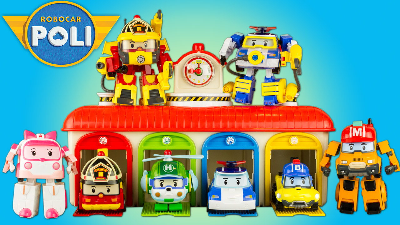 Super h ros et compagnie jouet robocar poli collection 8 robots transformables toy review - Poli robocar francais ...