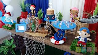 Decoração festa infantil Jake e os Piratas da Terra do Nunca
