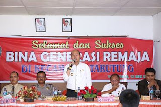 Bupati Taput Buka Secara resmi Acara Bina Generasi Muda Kecamatan Tarutung