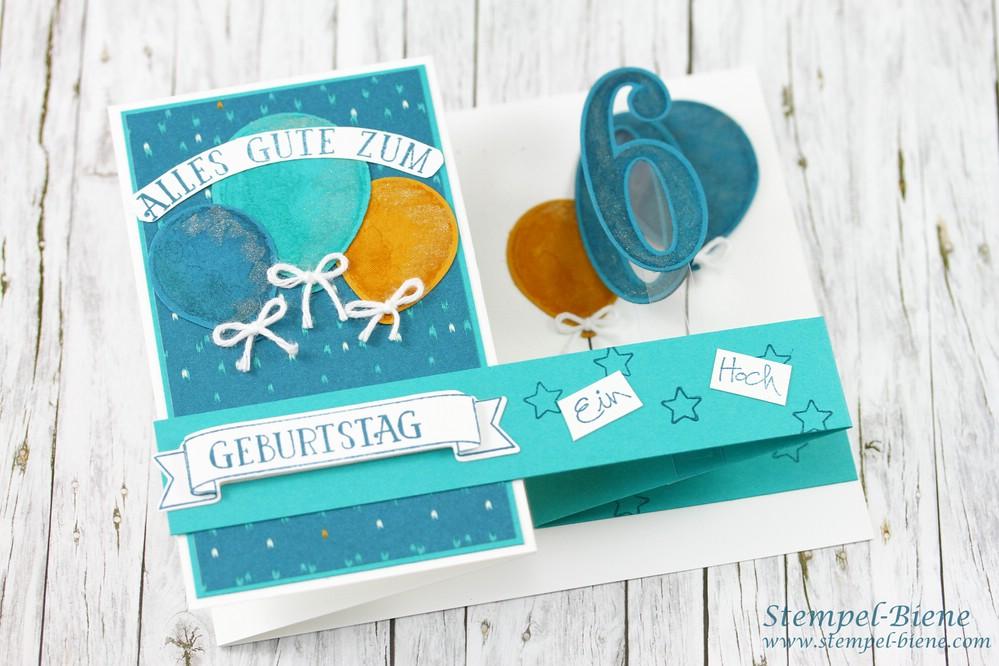 Stempel Biene Double Z Card Zum 60 Geburtstag