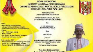 Pengukuhan Dewan Adat Kerajaan Toraja Tongkonan Sassa'