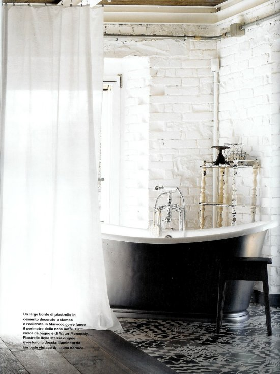 An industrial white home, Umbria Italy Designed by Paola Navone