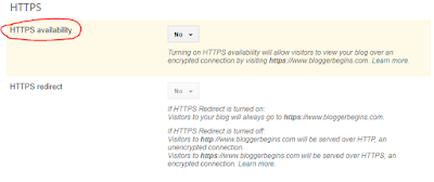 HTTPS availability is new column that present on draft.blogger.com to enable HTTPS in custom domain