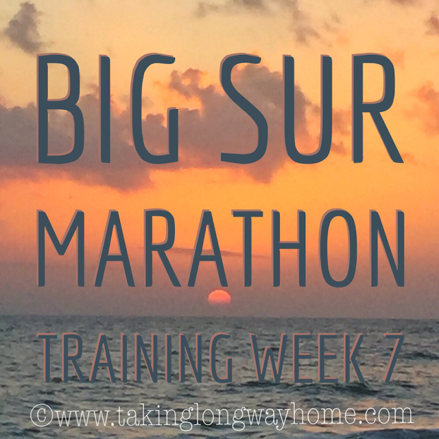 Big Sur Marathon Training Week 7