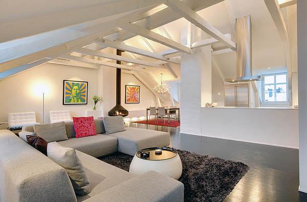 Hogares frescos magn fico loft moderno con fastuosos for Loft modernos exterior