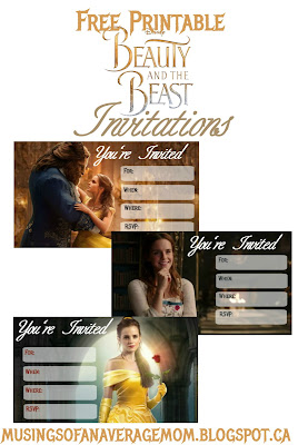 free printable beauty and the beast party ideas