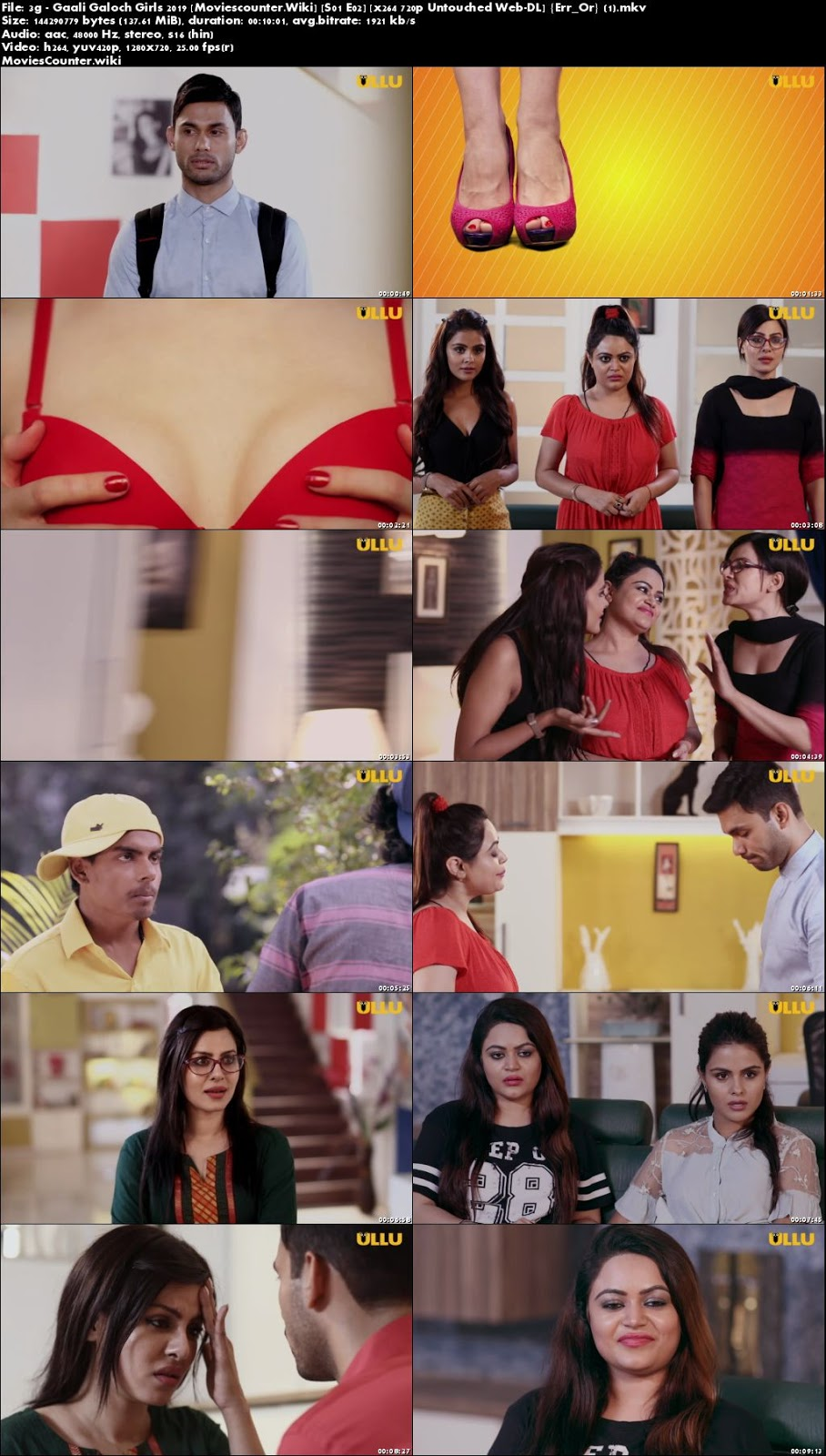 Screen Shots 3G Gaali Galoch Girls 2019 Season 1 Full Hindi Episode 720p
