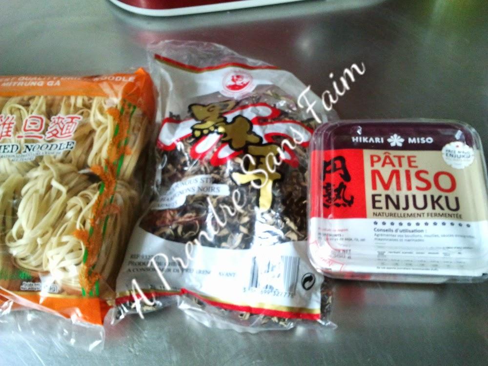 Soupe de nouilles Miso (pas à pas en photos)