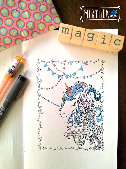 Magico unicorno disegno