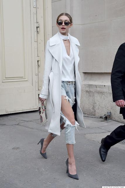Gigi Hadid destroyed jeans