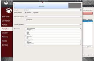 Realizando a instalação do RedCore Linux