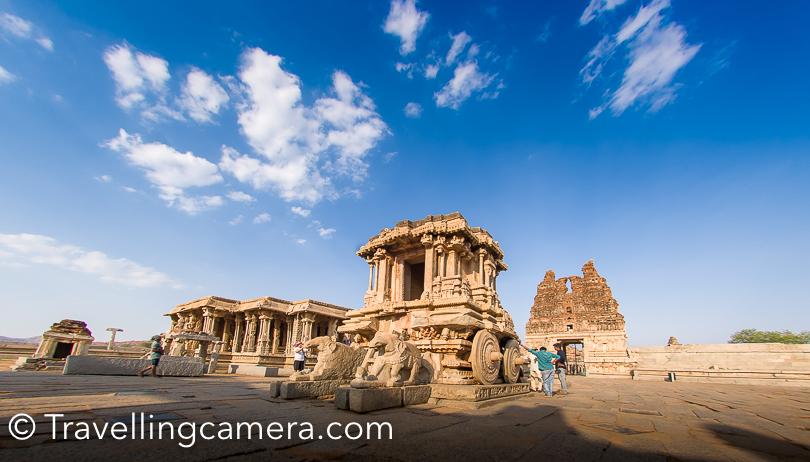 Vishnu temple, King's balance and inscribed vishnu temple are around this part of Hampi. Virupaksha Temple, Achyutaraya temple and Yantrodharak Anjaneya temple are little far from this place.