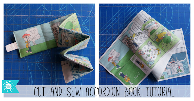 a tutorial for sewing a fabric book for toddlers