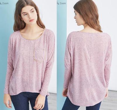 camiseta rosa para mujer