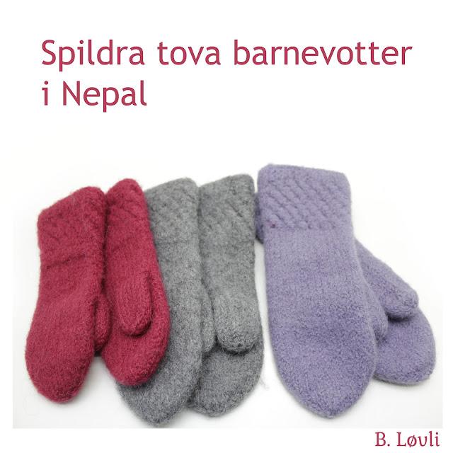 Strikkeoppskrift tova barnevotter i nepal