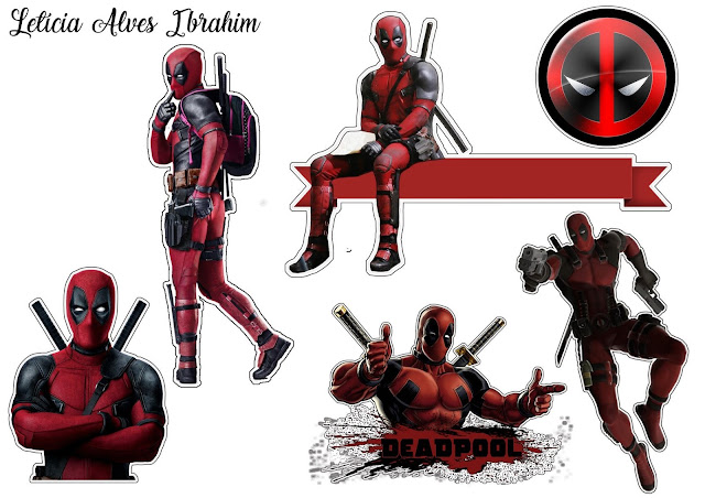 Deadpool Free Printable Cake Toppers.