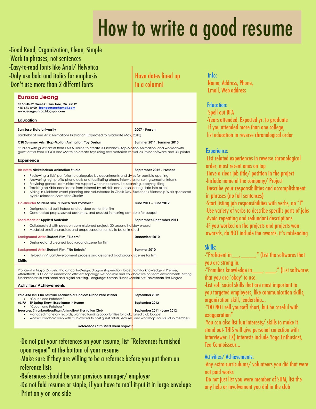 Writing A Good Resume Made In Korea 1988 How To Write A Good Resume