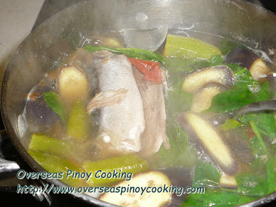 Sinigang na Sardinas, Mackerel Canned Sardines - Cooking Procedure