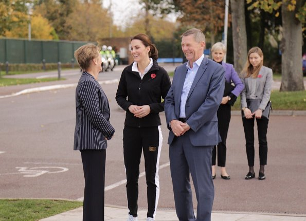 Duchess Catherine of Cambridge visited the Lawn Tennis Association at National Tennis Centre