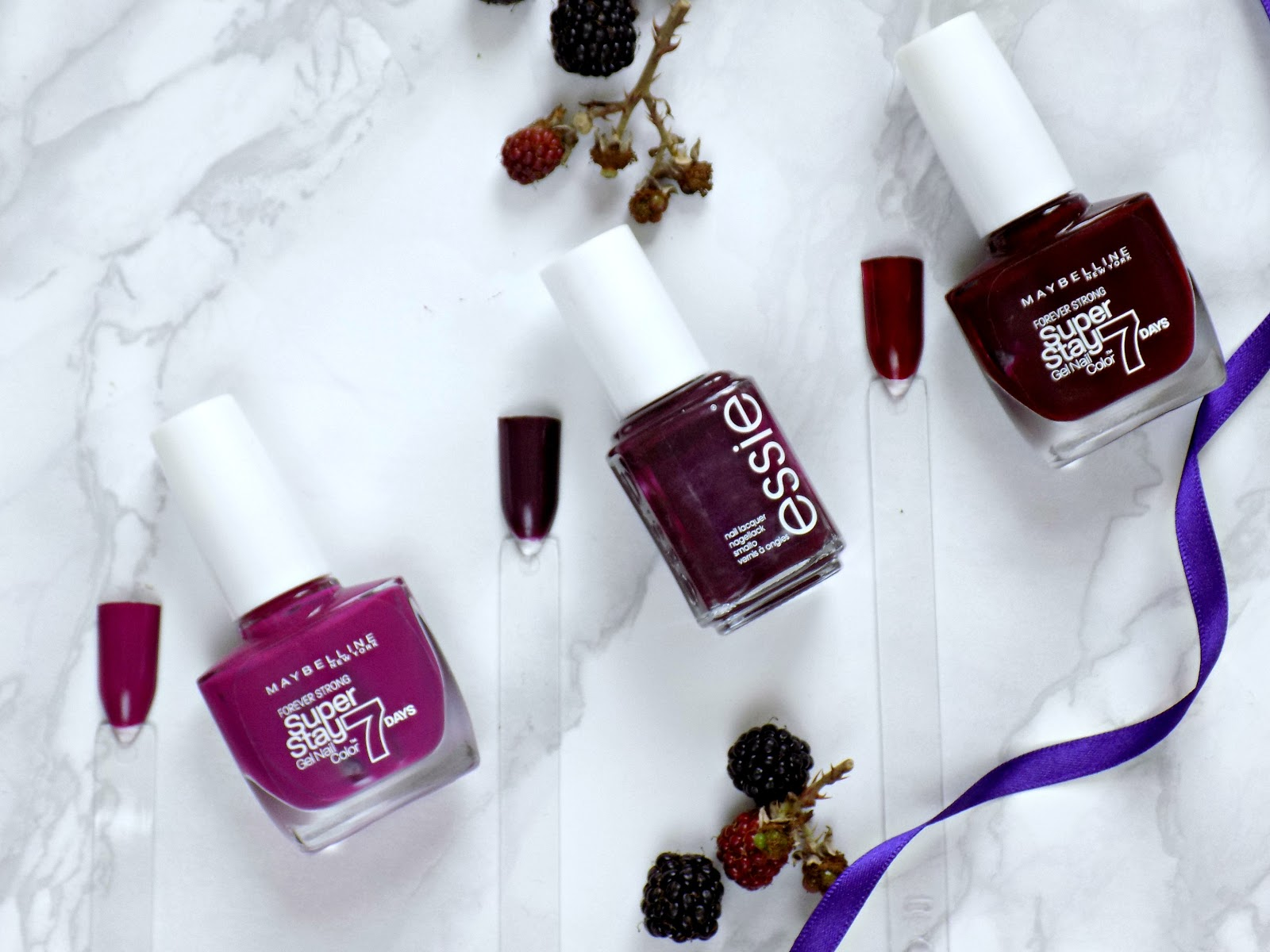 berry nail polishes