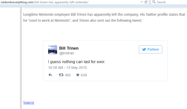 Nintendo Everything Bill Trinen shoddy reporting left Nintendo