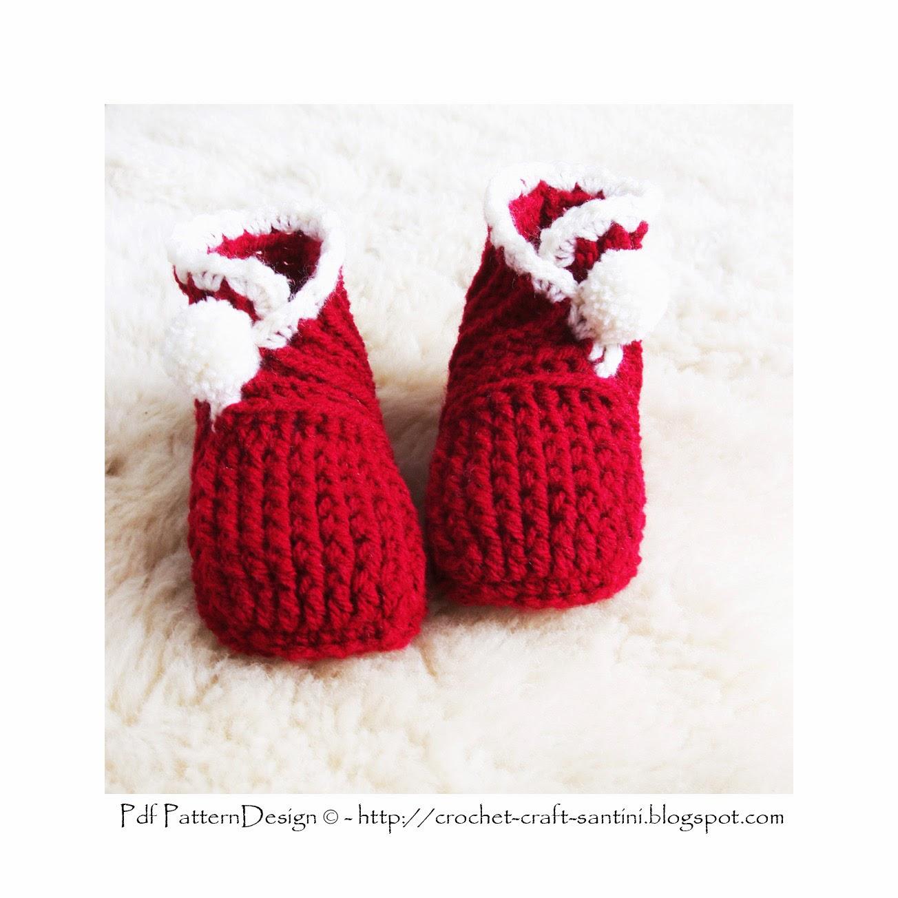 Christmas Baby Wrap Booties