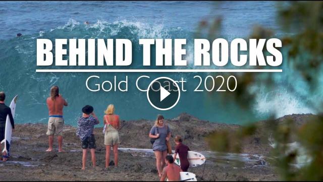 Behind the rocks - Snapper Rocks Gold Coast Cyclone Uesi
