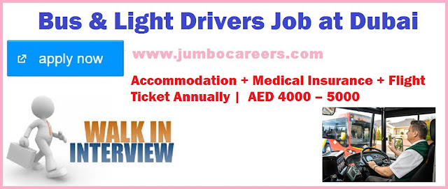Bus & Light Driver Jobs, Dubai Jobs, UAE Jobs, Latest Driver Jobs