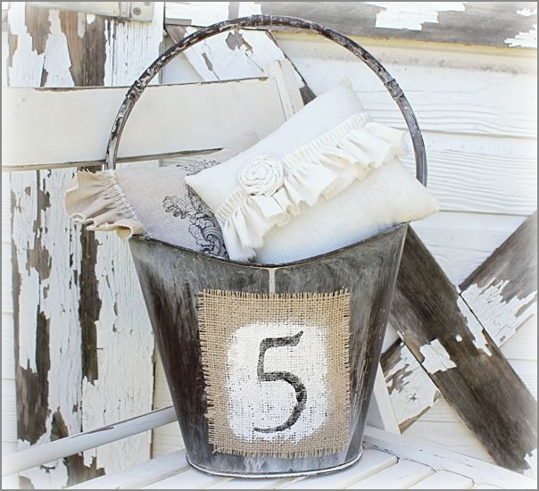 Burlap Number Bucket Tutorial