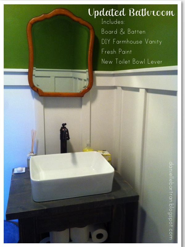 made: bathroom update {the loooong road, getting things done}
