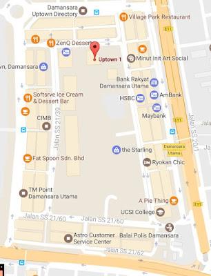 Uptown 1 Damansara Utama location map
