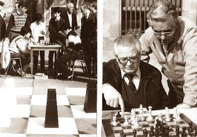 Los ajedrecistas D.Travesset / Romero vs. Tebar / Jarne - Martorell y Fernández