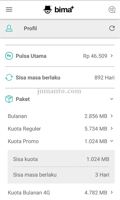 kuota internet 3 gratis