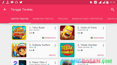 Game Tahu Bulat Kuasai Play Store Mengalahkan Clash Of Clans