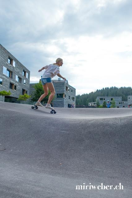 Schweizer Bloggerin, Skateboarding