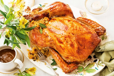 Roast turkey with apricot and hazelnut stuffing meal ideas