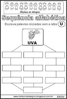 Sequência alfabética letra U
