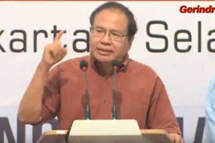 Ada Jutaan DPT Abal-Abal, Rizal Ramli: Jokowi Memang Dirancang untuk Menang dengan Curang