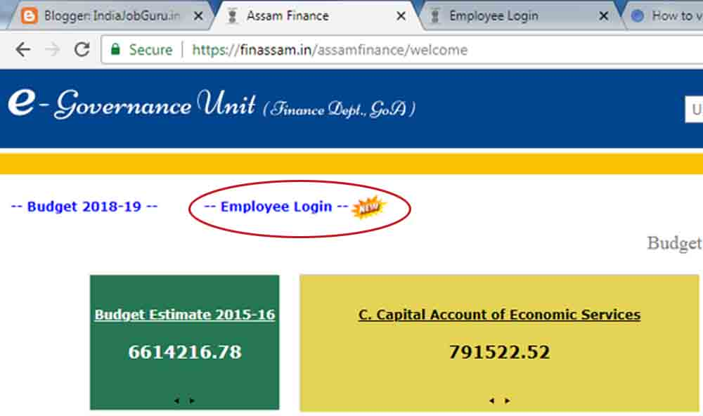 Assam Govt Employee Salary Slip - IndiaJobGuruin India Job Alert